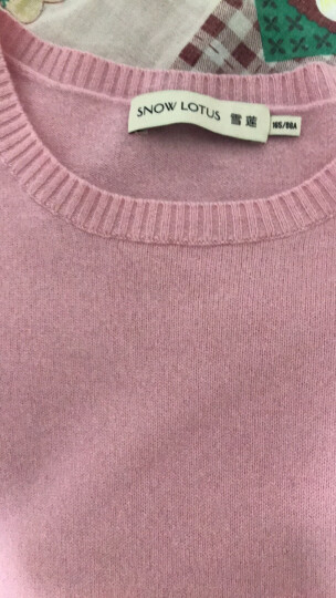 雪莲秋冬新款女士山羊绒衫圆领套头百搭保暖毛衣针织衫羊绒衫女 高级灰 R801 XL(110) 晒单图