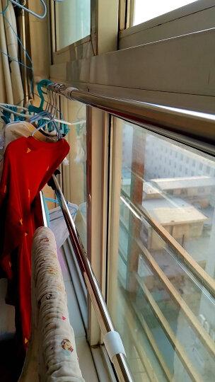 美居客浴帘杆不锈钢免打孔可伸缩杆(1.1m-2m)两只装 多功能衣柜撑杆窗帘门帘杆阳台晾晒杆 晒单图