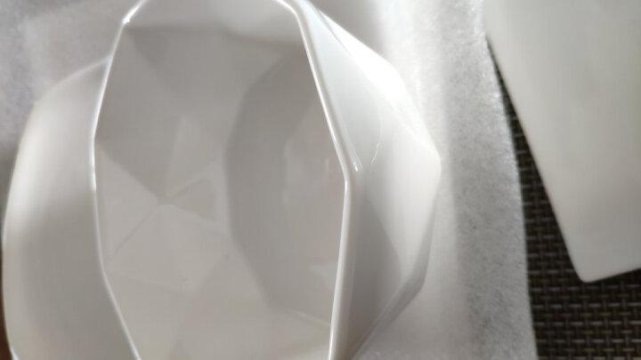 西餐盘异形酒店陶瓷餐具碟子沙拉水果烘培牛排蛋糕早餐四方平盘纯白色意大利面盘10寸牛排盘 8寸花仙子款边长20厘米 晒单图