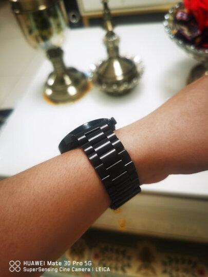 华为(HUAWEI) 荣耀智能手表表带WATCH GT 2/Magic专用钢制腕带 GT/GT2/Magic竹节钢带银色 晒单图