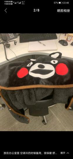 熊本熊 夏季午睡毯办公室空调毯披肩宅人卡通空调披肩懒人斗篷懒人毯毛毯午休毯 毯子 L 宽160*长110cm 晒单图