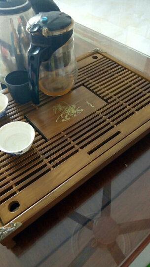 宏品(MAC-GRA) 特价实木茶盘天然乌金石茶盘茶具排水储抽屉式茶台茶托盘杯托茶具双用蓄水茶盘 马到成功石头单茶盘(60*37) 晒单图