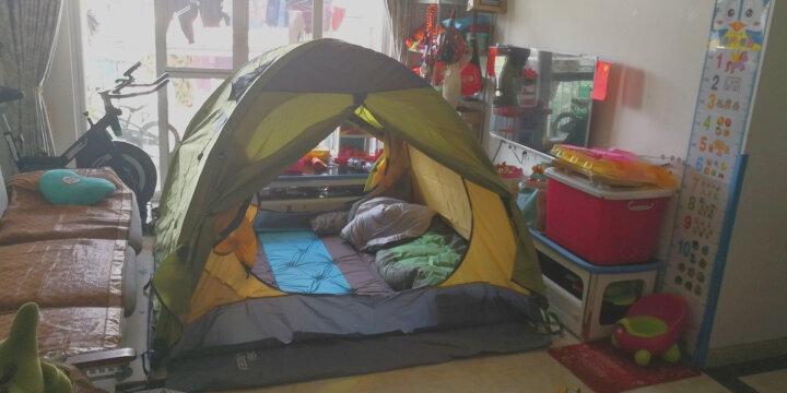 牧高笛 防大风防暴雨铝杆三季三人双层帐野外野营帐篷 冷山3 NXZQU61008 绿色 晒单图