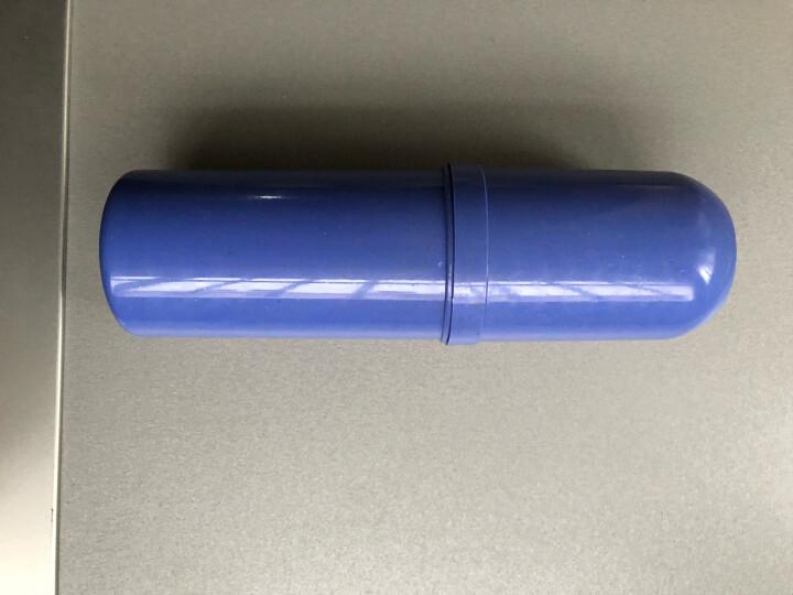 欣沁 小麦秸系列洗漱杯旅行收纳圆筒牙刷盒便携式防菌牙刷杯 蓝色 晒单图