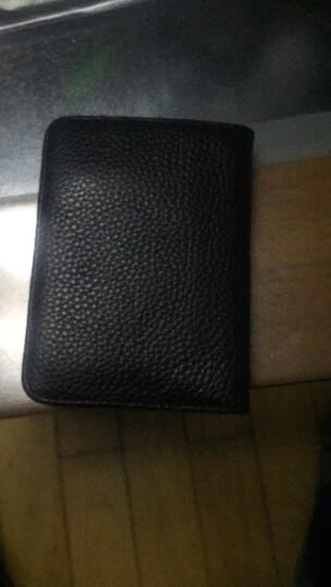巴适(RDBS)卡包男士超薄真皮卡夹名片夹多卡位银行卡套迷你小卡片包驾驶证套3056 啡色 晒单图