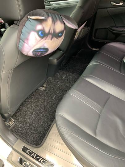 【入仓脚垫】固特异(Goodyear) 丝圈汽车脚垫 适用于2017-2020款奥迪A4L专用脚垫 飞足plus后排分体灰黑 晒单图