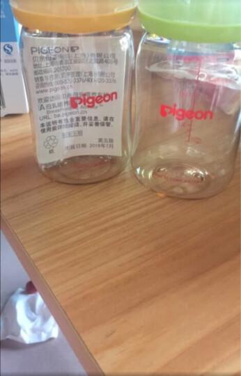 贝亲(Pigeon) 奶瓶 玻璃奶瓶 新生儿 宽口径玻璃奶瓶 婴儿奶瓶 160ml(绿色瓶盖)AA72 自然实感SS码奶嘴 晒单图