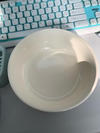 亿嘉 创意日式陶瓷餐具小汤碗大米饭碗6英寸面碗家用碗甜品碗沙拉碗早餐碗北欧印象白色 晒单图