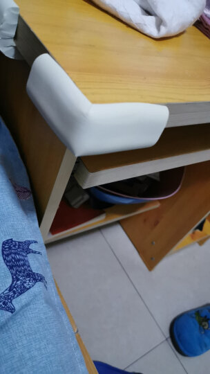 Babyprints防撞角宝宝桌角护角儿童婴儿防碰撞磕碰茶几保护套12个装 送3M双面胶 象牙白 晒单图