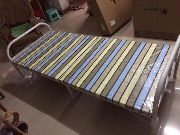 顺优 折叠床 单人床 午睡午休床 陪护床 行军床 硬板铁床环保带木质龙骨承重强 简易床长186cm宽80cm SY-018 晒单图