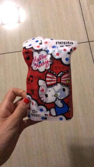 妮飘(nepia)湿巾纸巾卡通系列hello kitty凯蒂10抽/包*12包 晒单图
