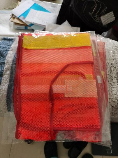 趣行 反光衣 反光背心 橘色网布汽车交通安全警示马甲 环卫施工执勤骑行安全服 晒单图