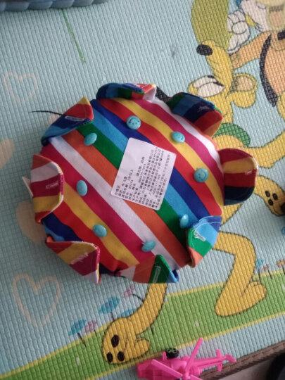 手工带纽扣布艺飞盘 儿童练习扣扣子 幼儿园教学安全软飞碟玩具 彩虹条 晒单图