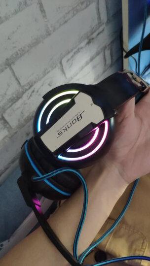 前行者(EWEADN) 电脑耳机头戴式耳麦有线游戏耳机网吧笔记本台式吃鸡听声辩位电竞带麦克风话筒 G1蓝色七彩光版 晒单图