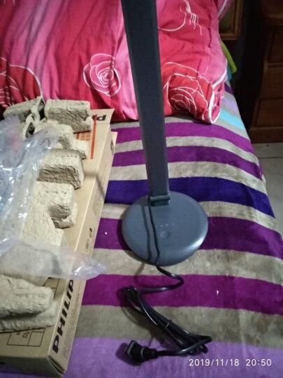 飞利浦 (PHILIPS) LED台灯 工作学习卧室床头灯 四档触摸调光晶黑色 酷永 晒单图