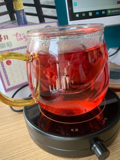 美斯尼 保温底座恒温宝茶座茶壶加热器电热杯垫智能控温防水防漏电 银色 晒单图
