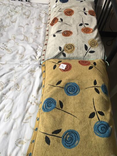金号纯棉无捻提缎提花枕巾 单人枕头巾 柔软透气 灰色 2条 80*51cm 晒单图