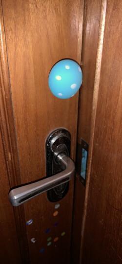 棒棒猪(BabyBBZ) 安全硅胶门卡宝宝防门夹手婴儿童门塞门档 蘑菇门档 2个装浅蓝色 晒单图