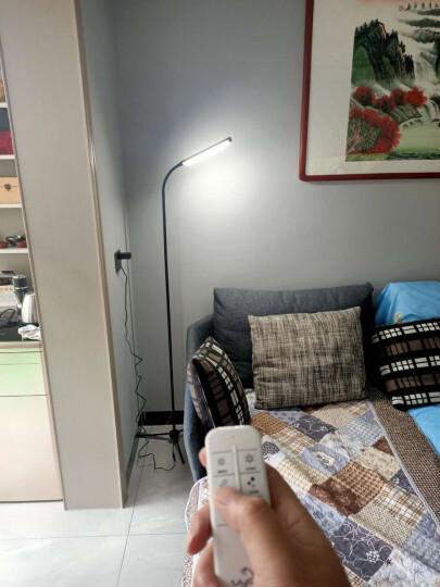 优洋 LED落地灯遥控 客厅茶几卧室床头书房简约现代落地台灯钢琴灯阅读灯 F8S银色 晒单图