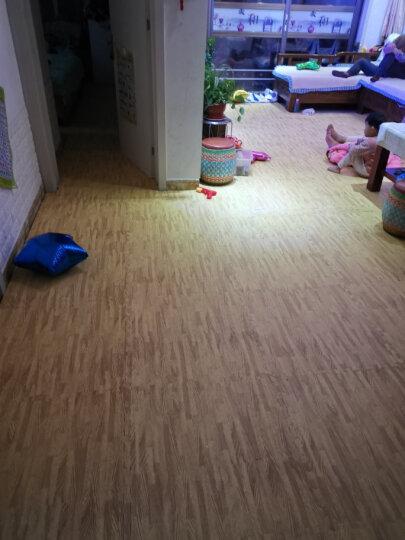 明德Meitoku 木纹泡沫地垫 PE泡沫垫 宝宝爬行垫 棕色拼图地垫 安全环保拼接地垫 30*30*1cm (9片装) 晒单图
