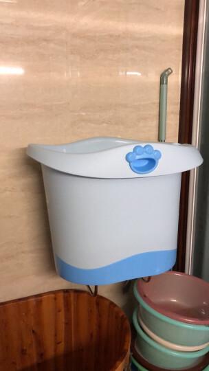 世纪宝贝(babyhood)儿童沐浴桶 宝宝洗澡桶 婴儿游泳桶中桶 天蓝色 BH-310 晒单图