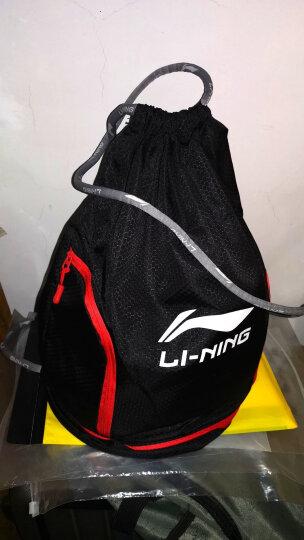 李宁(LI-NING)泳包 男女款干湿分离防水游泳包 大容量防水男女背包沙滩包健身包 圆筒款加大黑色 晒单图