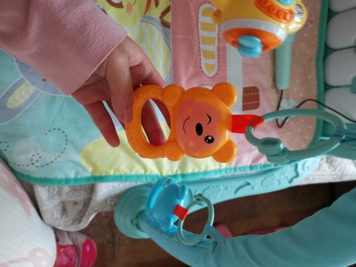 源乐堡(YuanLeBao)新生儿0-6月摇铃婴儿玩具健身架儿童脚踏刚琴早教机男女孩礼物宝宝0-1岁 【充电】2222内容+遥控+话筒 蓝 晒单图