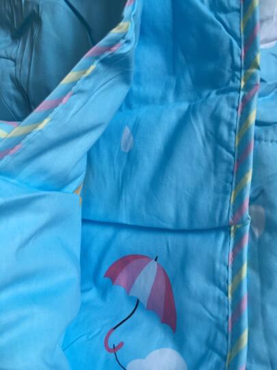 思侬家纺幼儿夏被 全棉夏季小孩被子幼儿园午睡被 纯棉卡通儿童夏被夏凉被可水洗空调被薄被芯 火烈鸟-米黄 120*150cm 晒单图