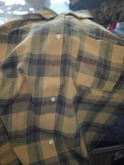 衫博 中长款格子衬衫女长袖2020春秋新品宽松BF风简约休闲衬衣外套上衣 绿格 XL 晒单图