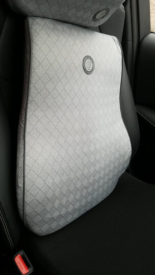 吉吉(GiGi)汽车腰靠 靠枕 背靠垫 弹力乳胶棉腰垫 汽车用办公用腰枕NE-006银灰 晒单图