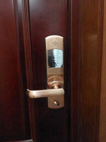 第吉尔(KEYLOCK)【免费上门安装】指纹锁家用防盗门锁密码电子智能锁92A 红古铜天地自弹 晒单图