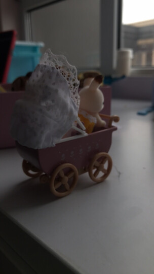 森贝儿家族玩具儿童礼物女孩过家家公主娃娃玩具巧克力兔妹妹家具套5016 晒单图