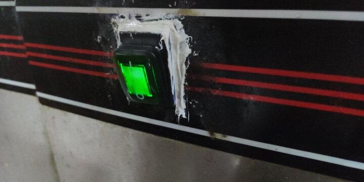 汇君 防水4脚2档船型开关KCD4红色绿色带灯四脚翘板开关双卡宽卡16A/250VAC 绿色 晒单图