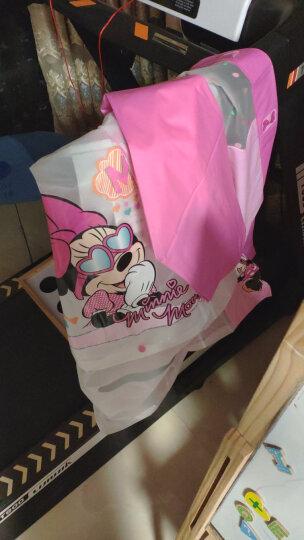 迪士尼 Disney 儿童雨衣 男童女童雨披带书包位加厚卡通小学生雨衣1007 米妮粉M 晒单图
