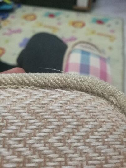恋家 家居亚麻拖鞋时尚格子地板拖 粉红格 39/40 LJ815012 晒单图
