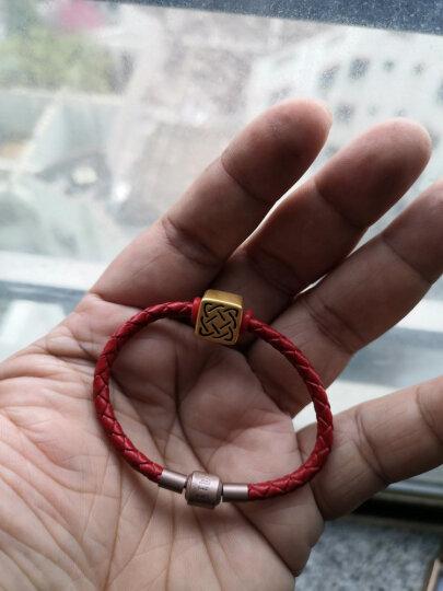 六福典雅珠宝 3D硬足金吊坠 黄金手链 DIY守护智慧力量转运珠手链 送礼百搭男女款 力量 晒单图