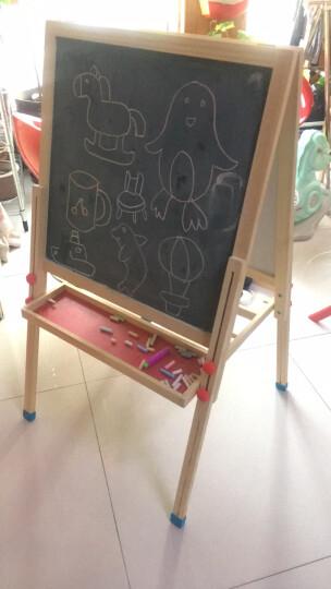 七巧板儿童画板黑板家用画架小黑板升降双面磁性画画写字板绘画套装实木白板六一儿童节礼物 146cm画板(送58元+28元升级礼包) 晒单图
