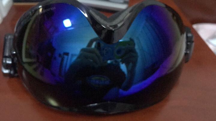 VOLOCOVER 艾仑凯沃专业滑雪眼镜 双层镜片防雾防紫外线男女防护目镜大球面可卡近视 黑色框蓝彩片 晒单图
