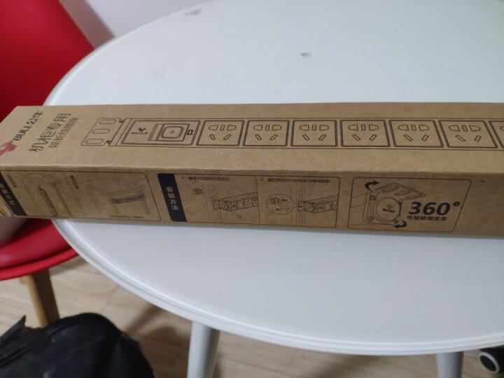 公牛(BULL)16A大功率PDU机柜插座/插线板/插排/排插/接线板/拖线板 8位总控全长1.8米 GNE-108D 晒单图