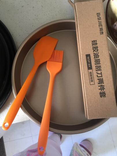 拜杰(Baijie)揉面垫 硅胶垫带标尺 烘培揉面案板垫 耐高温 硅胶案板 烘焙工具 粉色 晒单图