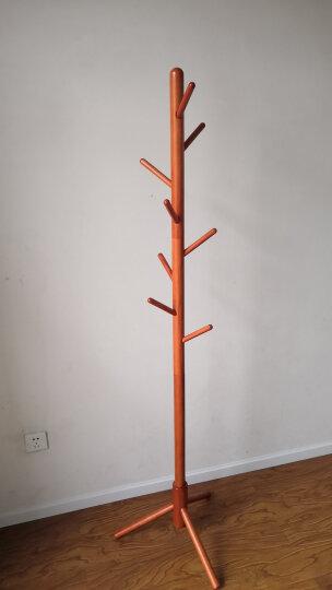 心家宜(SINGAYE) 欧式实木落地衣帽架 进口橡胶木创意挂衣架 加粗主杆多挂钩晾衣架 酒红色98141R 晒单图