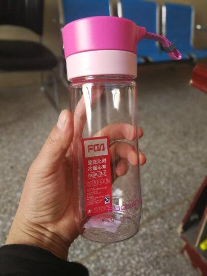 富光 户外旅行男女运动水壶塑料水杯 便携学生随手水杯 耐摔泡茶水杯子 带茶隔带提绳 500ML 粉色 晒单图
