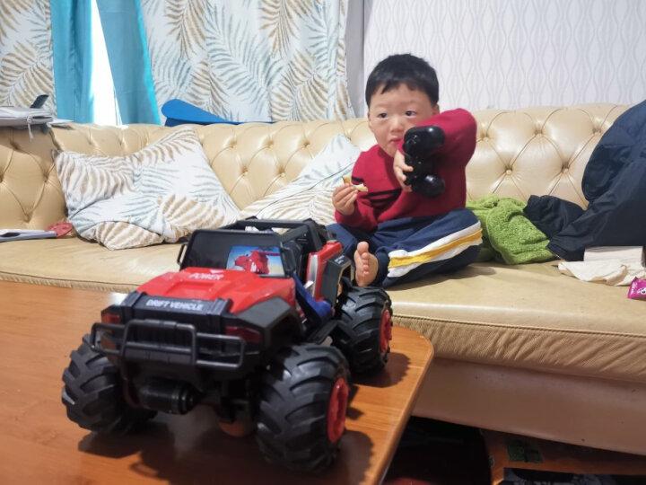 活石儿童玩具遥控车高速越野车攀爬车玩具大型耐摔漂移充电遥控汽车模型男孩玩具礼物 30厘米一键开门 红 晒单图