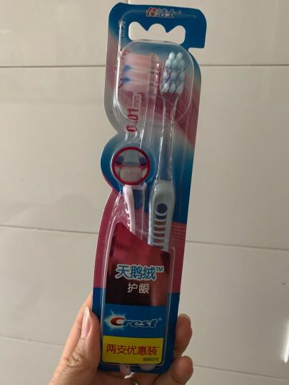佳洁士(Crest) 天鹅绒黑茶护龈牙刷两支优惠装 新旧包装随机发货 晒单图