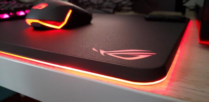 ROG泰毯 鼠标垫大号 游戏鼠标垫 电脑桌垫 FPS游戏 定位精准 天然橡胶 电竞 黑色 晒单图