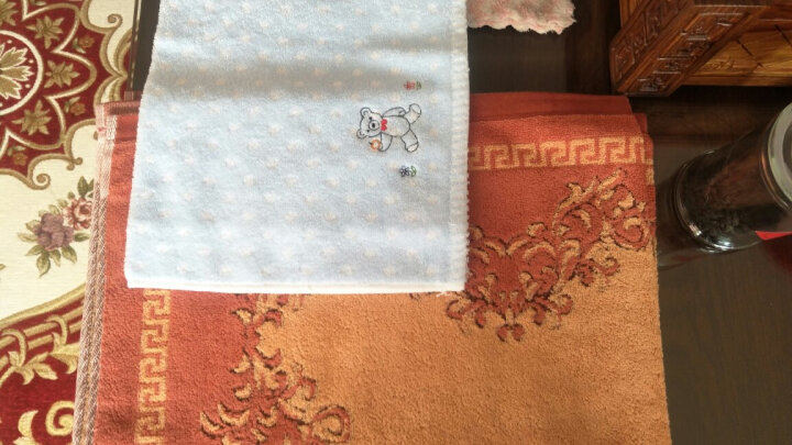 金号毛巾家纺 纯棉卡通枕巾 柔软透气单人枕头巾 一对2条装 棕色 50*80cm 晒单图