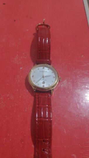 罗西尼(ROSSINI)手表 CHIC系列 间金镶钻时尚红皮石英表 学生手表 女士手表516734G01C 晒单图