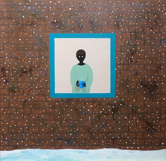 中盛画材(Transon)细纹亚麻油画布框2.5cm厚框条涂层油画框油画颜料用油画板内框 3件包邮 60*60日 细纹纹理 晒单图
