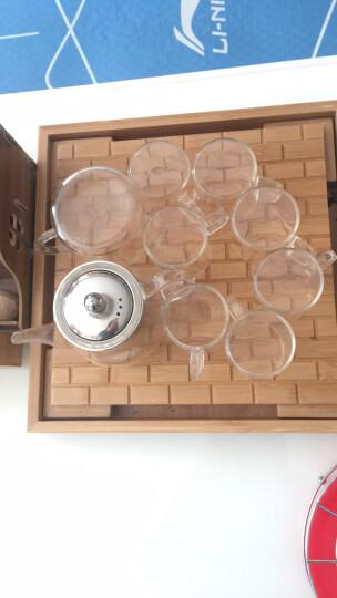 康韵 耐热玻璃茶具套装功夫茶具家用带过滤加厚耐高温玻璃泡茶壶透明花茶壶公道杯茶杯套装整套茶具 雅风壶手把杯+中平板茶盘套装 晒单图