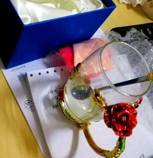 珐琅彩玻璃水杯泡茶杯子情侣实用时尚玫瑰花水晶对杯七夕情人节礼物生日礼物送女友情人老婆朋友圣诞节礼品 雏菊款矮杯+珐琅勺+礼盒礼袋 晒单图